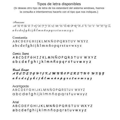 Tipografía para regalos personalizados