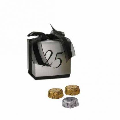 Caja bodas de plata con relleno