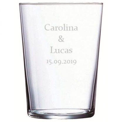 vasos personalizados de cristal