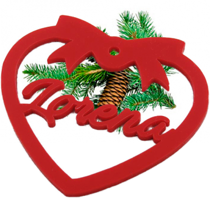 Adorno con nombre arbol Navidad