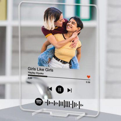placa canción Spotify